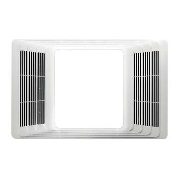 ''Broan 696 Bathroom Bath Ceiling Exhaust Ventilation Fan Vent and Light, White''