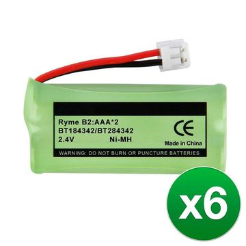 Replacement Battery For VTech CS6719-16 Cordless Phones - BT166342 (750mAh, 2.4V, NiMH) - 6 Pack