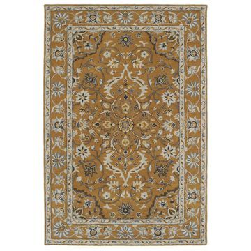 Kaleen Middleton 5 x 8 Terracotta Floral/Botanical Oriental Handcrafted Area Rug Cotton in Brown   MID03-106-579