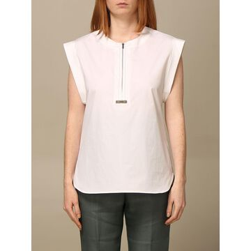 Peserico cotton shirt with zip