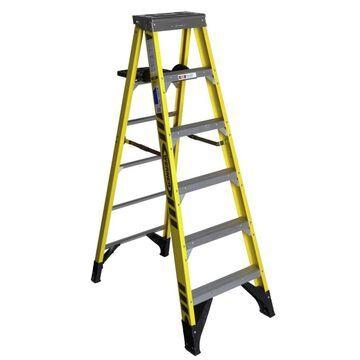 Werner 6-ft Fiberglass Type 1AA - 375 lbs Capacity Step Ladder