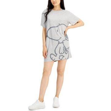 Peanuts Juniors' Snoopy Short-Sleeve Tunic Dress