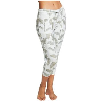 Chaser Cozy Knit Slouchy Joggers (Minty Palms) Women's Casual Pants