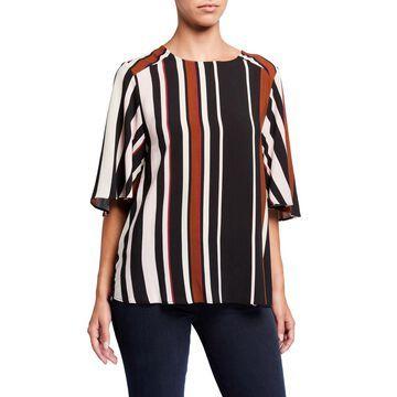 Stripe Flowy Sleeve Blouse