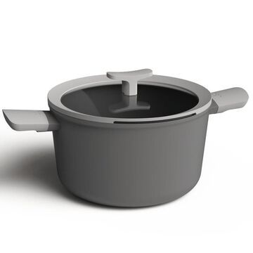 BergHOFF Leo 10-in Covered Stockpot, 5.8 Qt, Grey in Gray