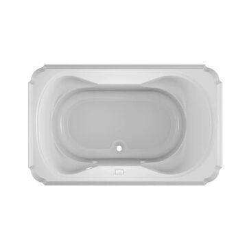 Jacuzzi Marineo 42-in W x 66-in L White Acrylic Rectangular Center Drain Drop-In Soaking Bathtub   MAR6642BCX2CXW