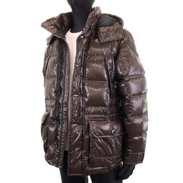 Moncler Brown Synthetic Coats