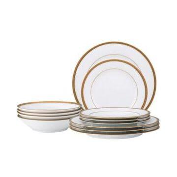 Noritake Charlotta Gold 12 Pc Dinnerware Set