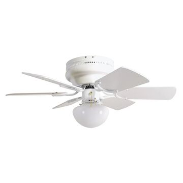 Design House Atrium 30-in White LED Indoor Flush Mount Ceiling Fan (6-Blade) | 157321
