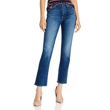 Mother The Tomcat Ankle Straight-Leg Jeans in Night Clubbing