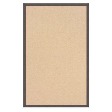 Linon Athena 8 x 11 Natural/Slate Wool Indoor Border Area Rug