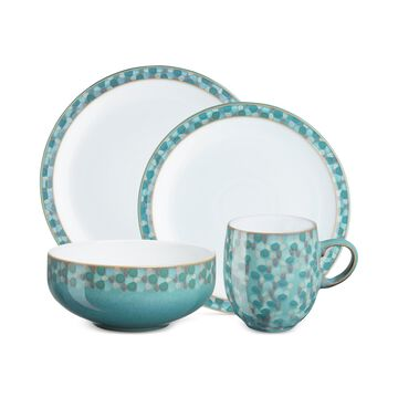 Azure Shell Collection 4-Piece Place Setting Boxed Set