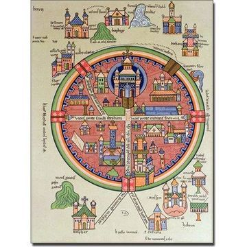 Trademark Art 'Map of Jerusalem and Palestine' Canvas Art