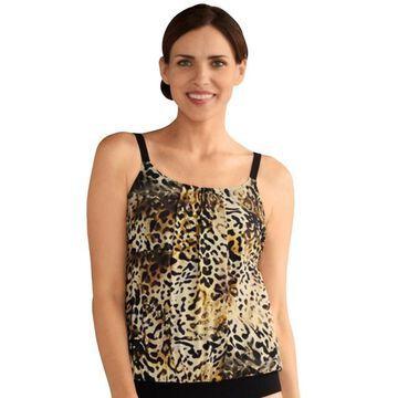 Women's Amoena Nauru Bra-Sized Pleated Leopard Print Tankini Top