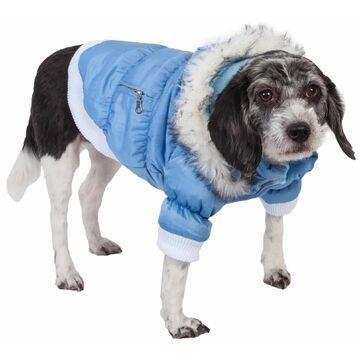 Pet Life Metallic Blue Dog Parka, X-Small