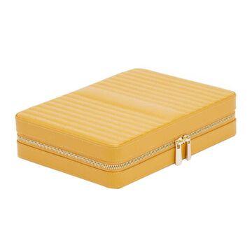 Wolf - Maria Zip Travel Jewelry Case - Mustard - Large