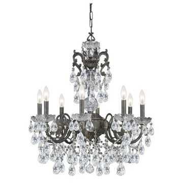 Crystorama Legacy 8 Light Clear Crystal Bronze Chandelier