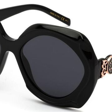 Elie Saab 057/G/S 0807/2K Men's Sunglasses Black Size 58
