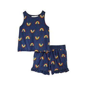 Stella McCartney Girls' Cotton Rainbow Tank & Shorts Set - Baby