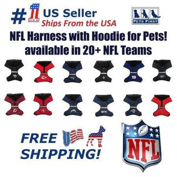 Pets First NFL Buffalo Bills Strong Heavy Duty and Durable Pet Dog Harness - Small