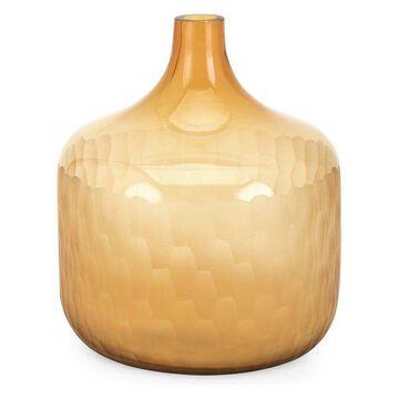 IMAX Home 47971 Saffron 10 Inch Tall Glass Vase