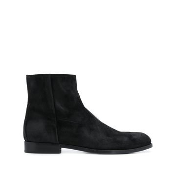 zip-up ankle boots