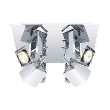Manao Chrome Four-Light Semi-Flush Mount