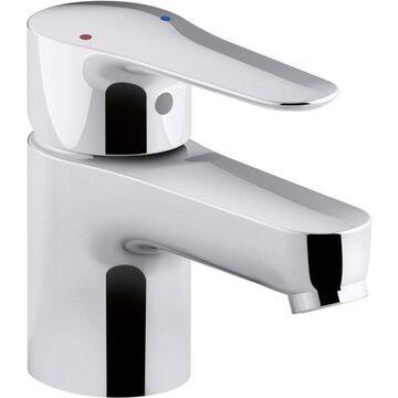 KOHLER July Polished Chrome 1-Handle Single Hole Bathroom Sink Faucet with Drain | 16027-4-CP