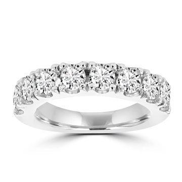 La Vita Vital 14K White Gold 2.05ct TDW Round Diamond Wedding Band