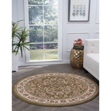 Bliss Rugs Litzy Traditional Indoor Round Area Rug