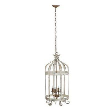 A&B Home Imre 4-Light Chandelier In Antique White