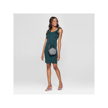 ALMOST FAMOUS Womens Green Sleeveless Scoop Neck Above The Knee Body Con Party Dress Juniors Size: XL