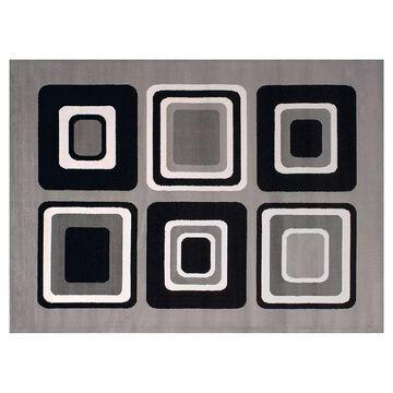 United Weavers Dallas Spaces Geometric Rug, Grey, 2X3 Ft