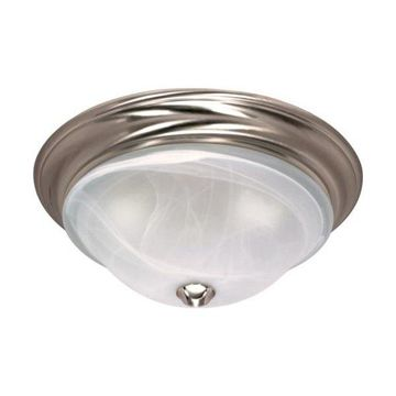 Nuvo Lighting 60/588 Triumph Flush Mount Ceiling Fixture, Brushed Nickel