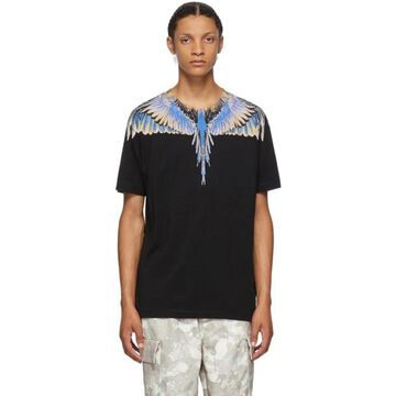 Marcelo Burlon County of Milan Black and Multicolor Wings T-Shirt