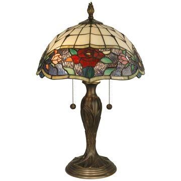 Dale Tiffany Rose Border Table Lamp