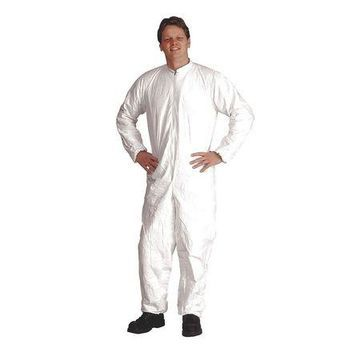 DUPONT IC182BWHMD0025CS Tyvek Isoclean Coverall,Elastic,M,PK25