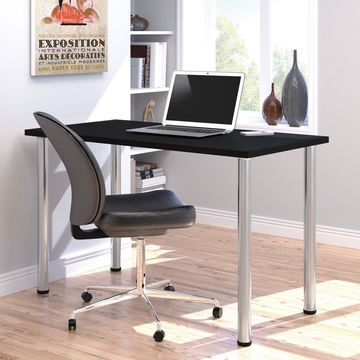 Bestar Table with Round Metal Legs