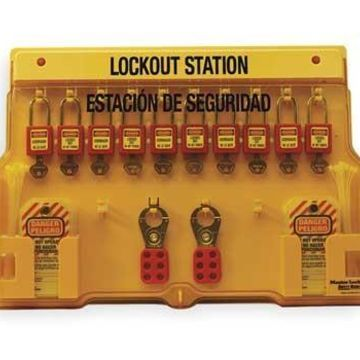 Master Lock Yellow Lockout Station