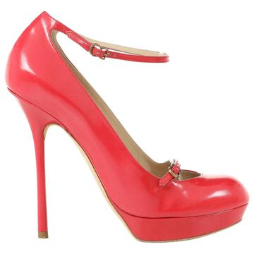 John Galliano Red Leather Heels