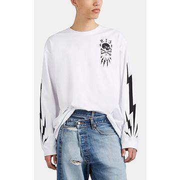 R13 Skull Bolt Cotton Long-Sleeve T-Shirt