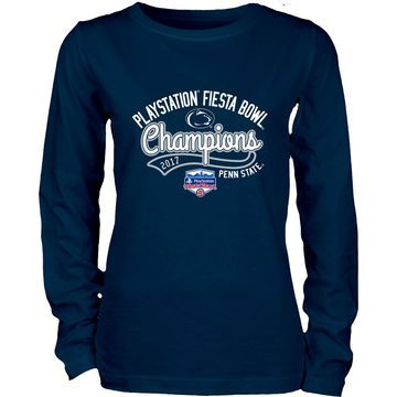 Penn State Nittany Lions Blue 84 Women's 2017 Fiesta Bowl Champions Long Sleeve T-Shirt Navy