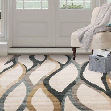 Somerset Home Opus Contemporary Curves Area Rug