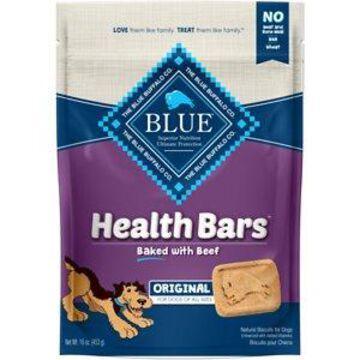 Blue Buffalo Health Bars Baked Beef Dog Treats, 16-oz bag