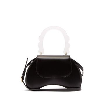 Simone Rocha - Bean Leather Handbag - Womens - Black