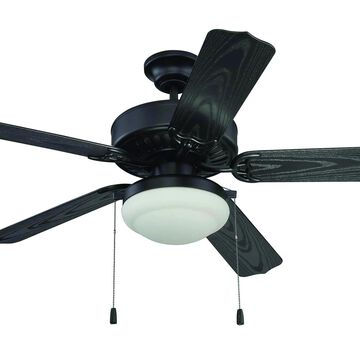 """Craftmade 52"""" Enduro Plastic with Light Kit Ceiling Fan in Matte Black"""