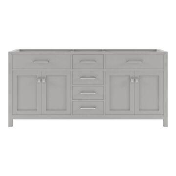 Virtu USA Caroline 72-in Cashmere Gray Bathroom Vanity Cabinet | MD-2072-CAB-CG