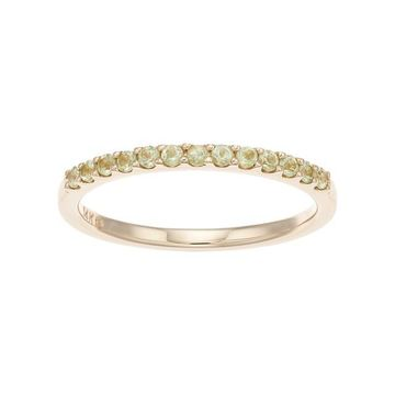Boston Bay Diamonds 14k Gold Peridot Stack Ring