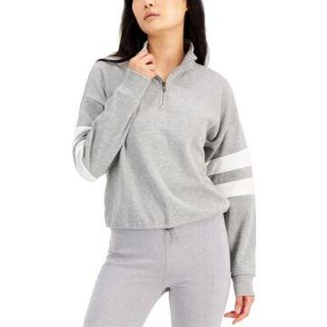 Hippie Rose Juniors' Quarter-Zip Varsity Sweatshirt