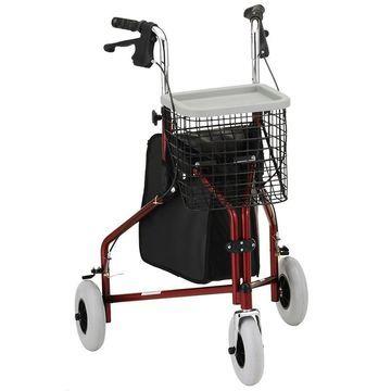 Nova Traveler 3 Wheel Walker Red